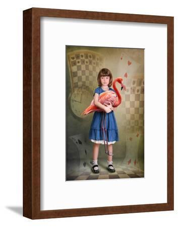 Alice Trying to Play Croquet with Flamingo-egal-Framed Photographic Print