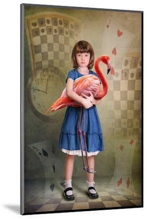 Alice Trying to Play Croquet with Flamingo-egal-Mounted Photographic Print