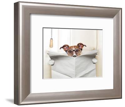 Dog Toilet-Javier Brosch-Framed Photographic Print