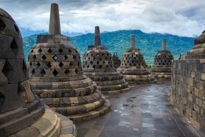 Borobudur Buddist Temple Yogyakarta. Java, Indonesia-lkunl-Framed Photographic Print