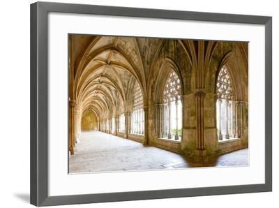 Royal Cloister of Santa Maria Da Vitoria Monastery, Batalha, Estremadura, Portugal-phbcz-Framed Photographic Print