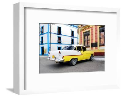 Vintage Oldtimer Car in the Streets of Camaguey, Cuba-dzain-Framed Photographic Print