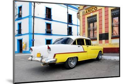 Vintage Oldtimer Car in the Streets of Camaguey, Cuba-dzain-Mounted Photographic Print