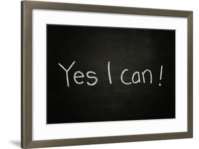 Yes I Can-airdone-Framed Photographic Print