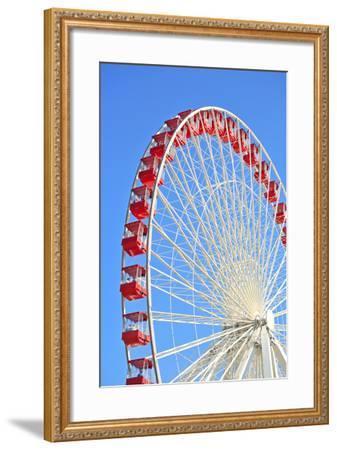 Ferris Wheel at Navy Pier, Chicago-soupstock-Framed Photographic Print