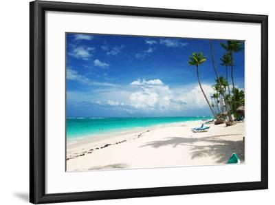 Beautiful Caribbean Beach in Dominican Republic-haveseen-Framed Photographic Print