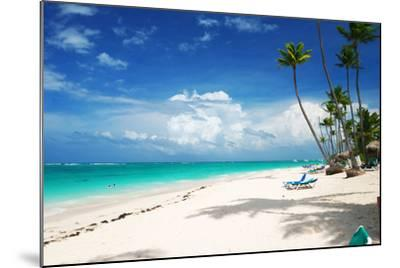 Beautiful Caribbean Beach in Dominican Republic-haveseen-Mounted Photographic Print