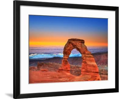 Arches National Park Delicate Arch Sea of Clouds in Moab Utah USA Photo Mount-holbox-Framed Photographic Print