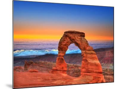 Arches National Park Delicate Arch Sea of Clouds in Moab Utah USA Photo Mount-holbox-Mounted Photographic Print