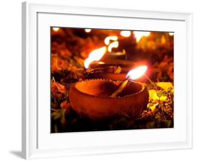 Diwali Lamps-thefinalmiracle-Framed Photographic Print