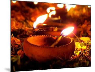 Diwali Lamps-thefinalmiracle-Mounted Photographic Print