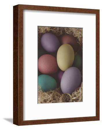 Painted Easter Eggs Nesting - Cross Processed-frannyanne-Framed Photographic Print