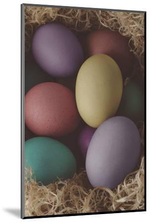 Painted Easter Eggs Nesting - Cross Processed-frannyanne-Mounted Photographic Print