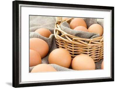 Close-Up of Brown Eggs-Morganka-Framed Photographic Print