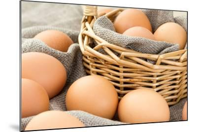 Close-Up of Brown Eggs-Morganka-Mounted Photographic Print