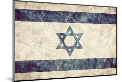 Israel Grunge Flag. Vintage, Retro Style. High Resolution, Hd Quality. Item from My Grunge Flags Co-Michal Bednarek-Mounted Photographic Print