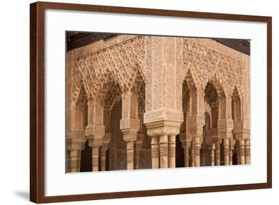 Patio of the Lions Columns from the Alhambra Palace-Lotsostock-Framed Photographic Print
