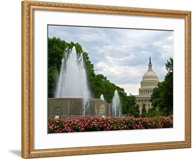 United States Capitol Building and Fountain in Washington Dc-Frank L Jr-Framed Photographic Print