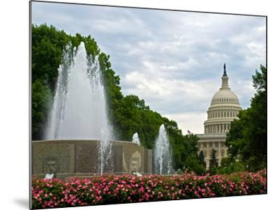 United States Capitol Building and Fountain in Washington Dc-Frank L Jr-Mounted Photographic Print