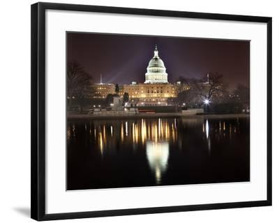 Us Capitol Night Reflection Washington Dc-BILLPERRY-Framed Photographic Print
