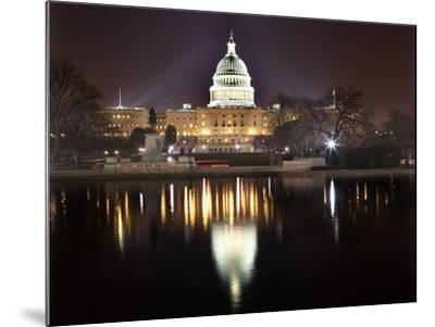 Us Capitol Night Reflection Washington Dc-BILLPERRY-Mounted Photographic Print