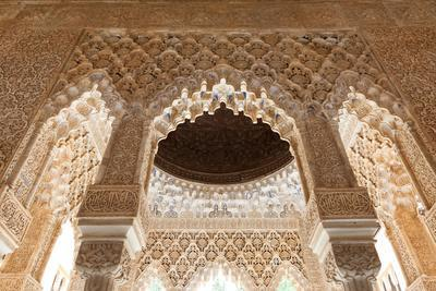 Patio of the Lions Roof Detail from the Alhambra-Lotsostock-Framed Photographic Print
