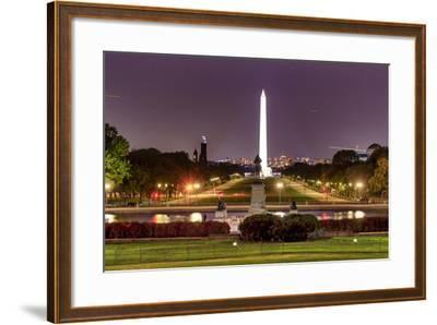 The Mall Monument Us Grant Memorial Evening Stars Washington Dc-BILLPERRY-Framed Photographic Print