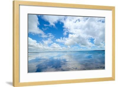 Soft Wave of the Sea on the Sandy Beach-idizimage-Framed Photographic Print
