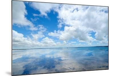 Soft Wave of the Sea on the Sandy Beach-idizimage-Mounted Photographic Print