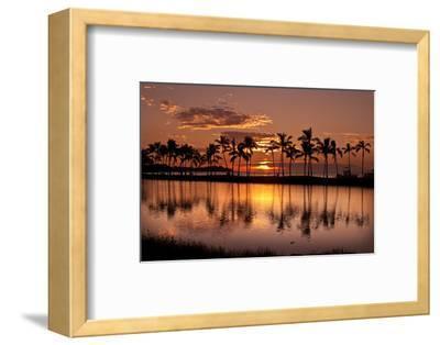 Waikoloa Sunset at Anaeho'omalu Bay-NT Photography-Framed Photographic Print