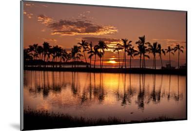Waikoloa Sunset at Anaeho'omalu Bay-NT Photography-Mounted Photographic Print