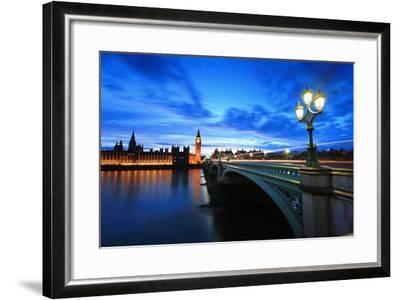Big Ben London at Night-aslysun-Framed Photographic Print