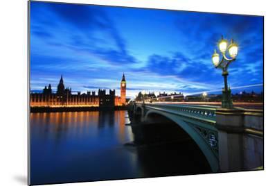 Big Ben London at Night-aslysun-Mounted Photographic Print