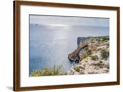 Blue Grotto on the Southern Coast of Malta.-Anibal Trejo-Framed Photographic Print