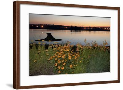 Arrow Island on Mississippi-benkrut-Framed Photographic Print