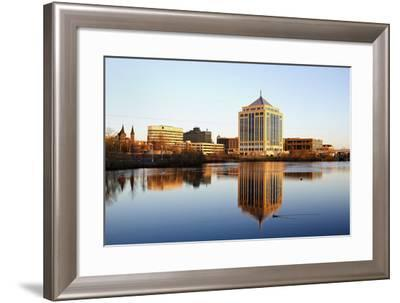 Wausau Seen during the Sunset-benkrut-Framed Photographic Print