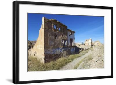 Belchite Village Destroyed in a Bombing during the Spanish Civil War, Saragossa, Aragon, Spain-pedrosala-Framed Photographic Print