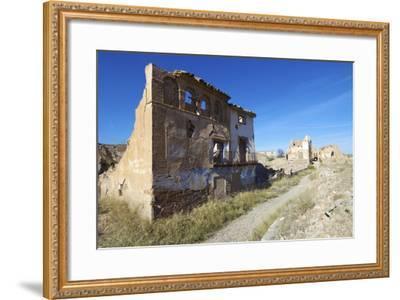 Belchite Village Destroyed in a Bombing during the Spanish Civil War, Saragossa, Aragon, Spain-pedrosala-Framed Photographic Print