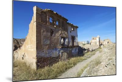 Belchite Village Destroyed in a Bombing during the Spanish Civil War, Saragossa, Aragon, Spain-pedrosala-Mounted Photographic Print