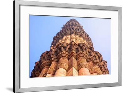 Qutb Minar, the Tallest Brick Minaret in the World , Delhi India.-jackfrog-Framed Photographic Print