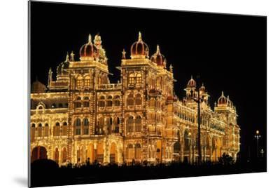 Mysore Palace in India Illuminated at Night-flocu-Mounted Photographic Print