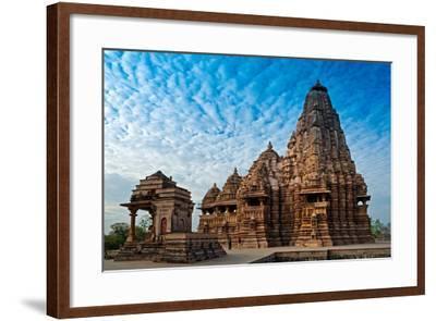 Kandariya Mahadeva Temple, Khajuraho, India, Unesco Heritage Site.-Rudra Narayan Mitra-Framed Photographic Print