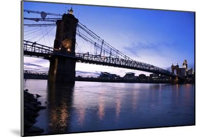 Historic Bridge in Cincinnati-benkrut-Mounted Photographic Print