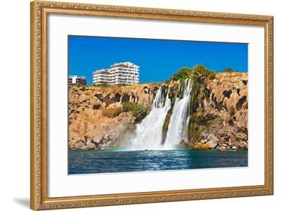 Waterfall Duden at Antalya Turkey - Nature Travel Background-Nik_Sorokin-Framed Photographic Print