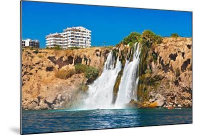 Waterfall Duden at Antalya Turkey - Nature Travel Background-Nik_Sorokin-Mounted Photographic Print