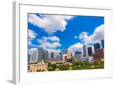 Houston Skyline from South in Texas US USA-holbox-Framed Photographic Print