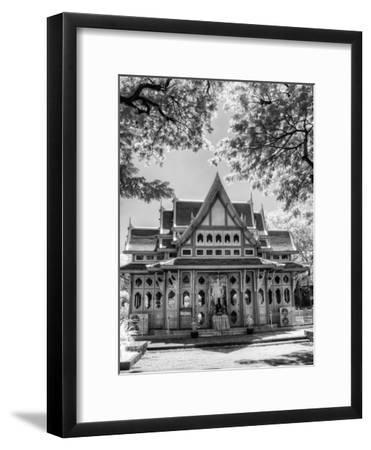 BW Infrared Photo Hua Hin Train Station Thailand-Nelson Charette-Framed Photographic Print
