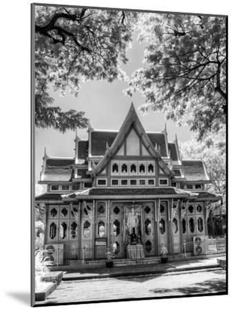 BW Infrared Photo Hua Hin Train Station Thailand-Nelson Charette-Mounted Photographic Print