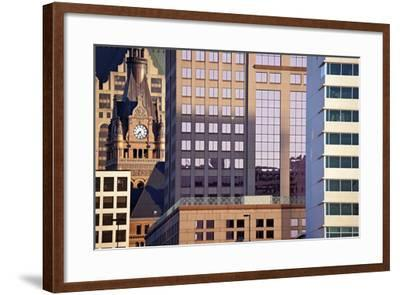 Composition of Milwaukee Buildings-benkrut-Framed Photographic Print