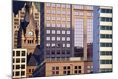 Composition of Milwaukee Buildings-benkrut-Mounted Photographic Print